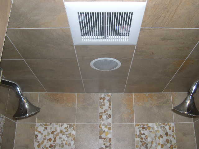 pebble panel shower ceiling